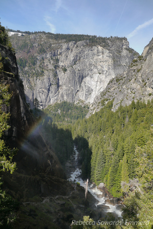 Rainbow in the Vernal Falls mist.