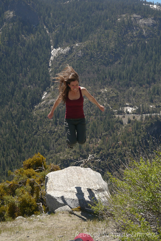 Paige on the jumping rock