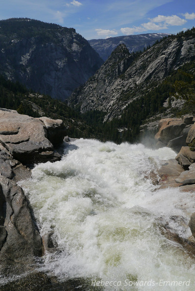 Raging river at the top of Nevada Falls