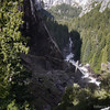 Looking down on the Mist Trail and the river.