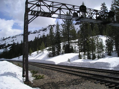 There is a railroad crossing that can be tricky with high snow