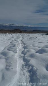 Tracks and the alabama hills below.