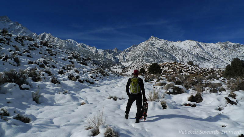 The snow line was right around 6k. We pulled into the Lone Pine Campground and parked, then followed a road towards whitney