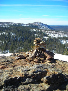 Cairn on the 'summit'