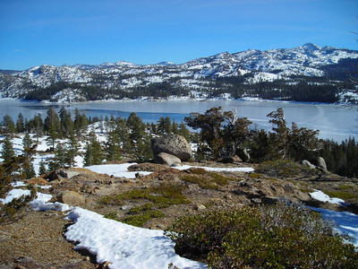 Loon Lake  And the view toward Desolation Wilderness (and a little more snow)