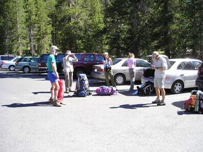 Getting packed up at the trailhead.