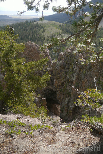 The 'Bottomless Pit' at the base of the SE side of Mammoth Mountain