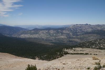 View towards Devil's Post Pile