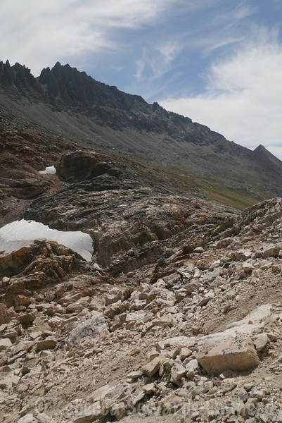 We can now see beyond the pass to Twin Peaks and Virginia Peak