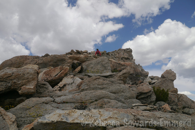 Final approach to the summit (on nice rock)
