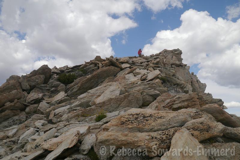 Deb on the summit