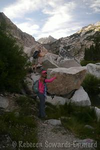 End of trail! Begin boulder hopping!