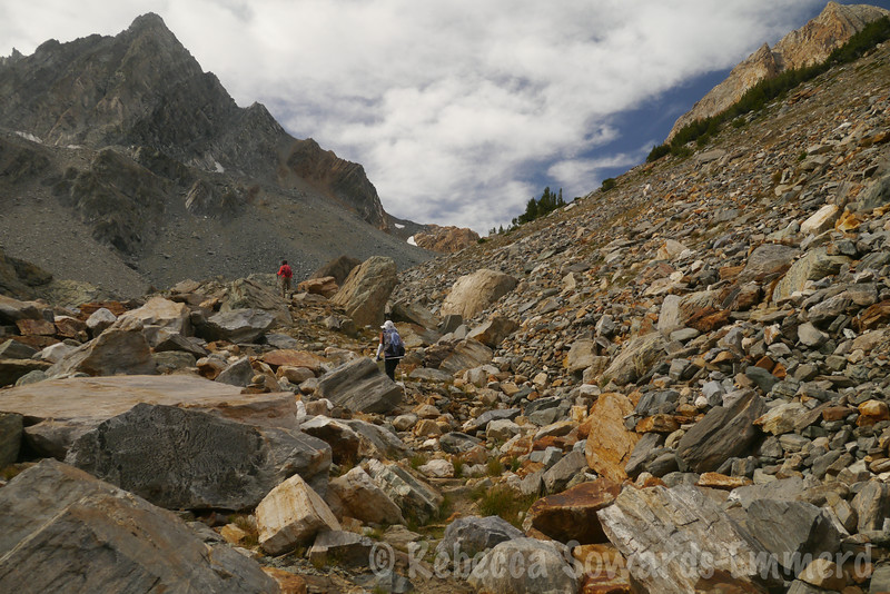 Working our way up to Horse Creek Pass
