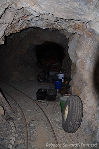 Inside the mine.
