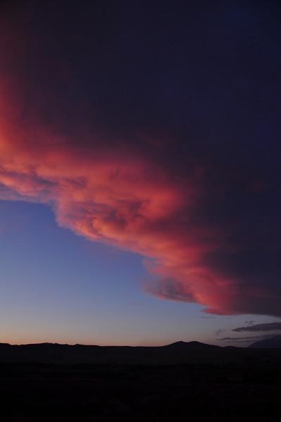 Sunset sierra wave