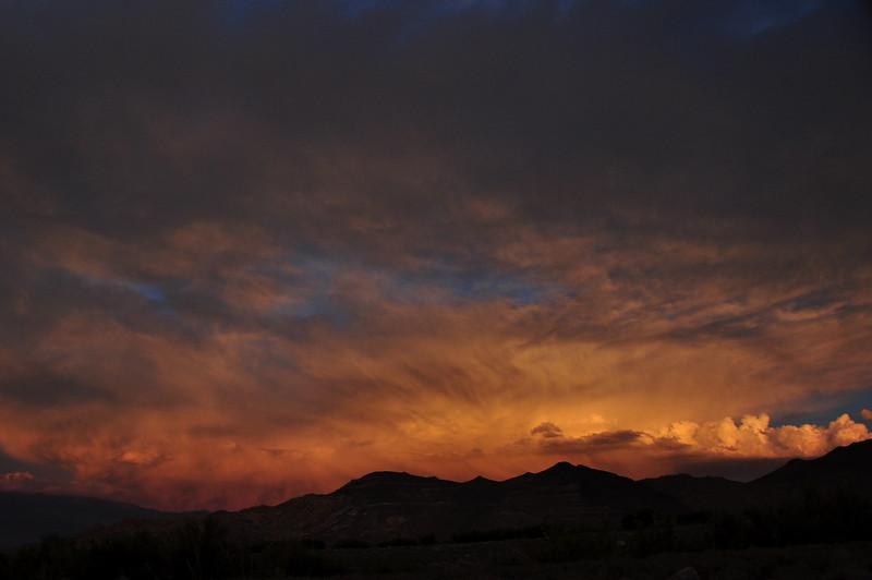 Sunset over the Whites