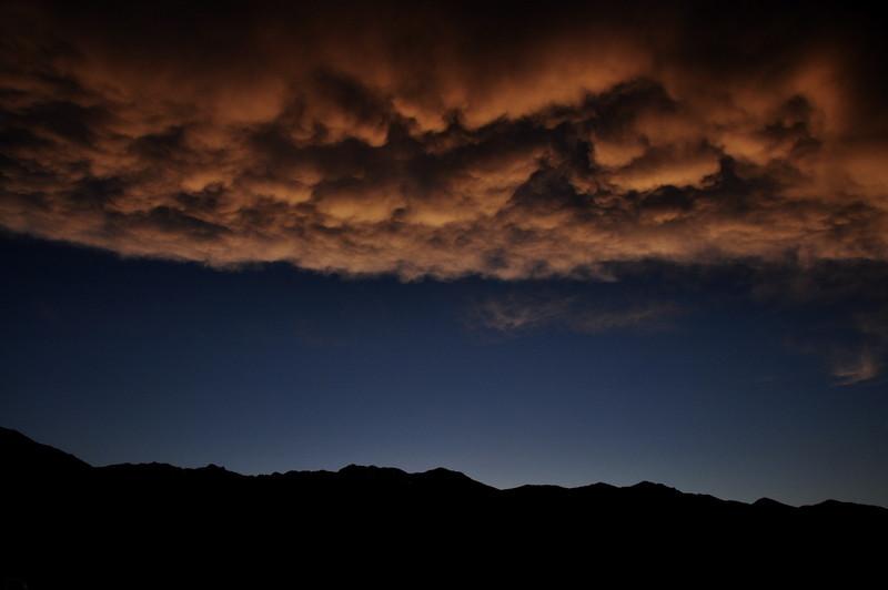 Sunset over Wheeler Ridge