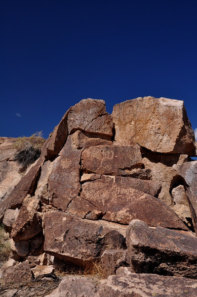 Glyphs at the Red Rock Canyon site