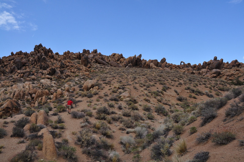 Heading to the last arch of the day (see it on the ridge?)