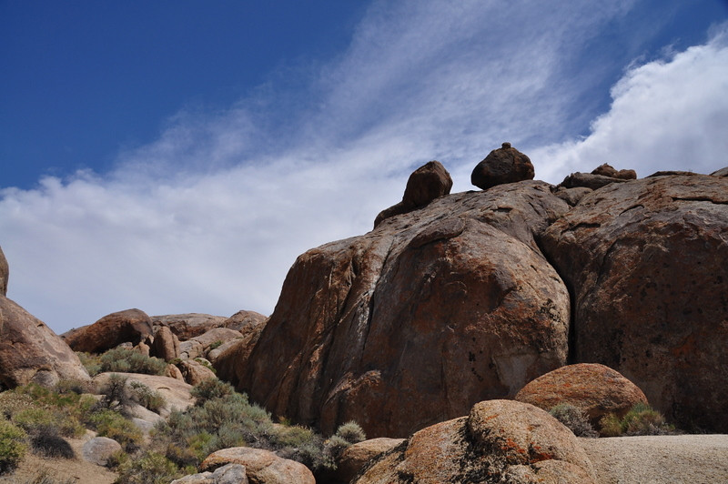 Rock piles in the Alabama Hills