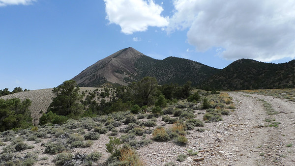 A nice view of Red Mountain from our campsite. We plan on hiking it tomorrow, then following the ridge to the south (not pictured) to hit Silver Peak, the high point of the range.