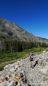 Pavla on the trail