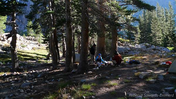 Camp near Pinto Lake