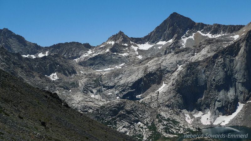 Sawtooth Peak - we'll be passing by it in two days after we circle by the Little and Big Five lakes.