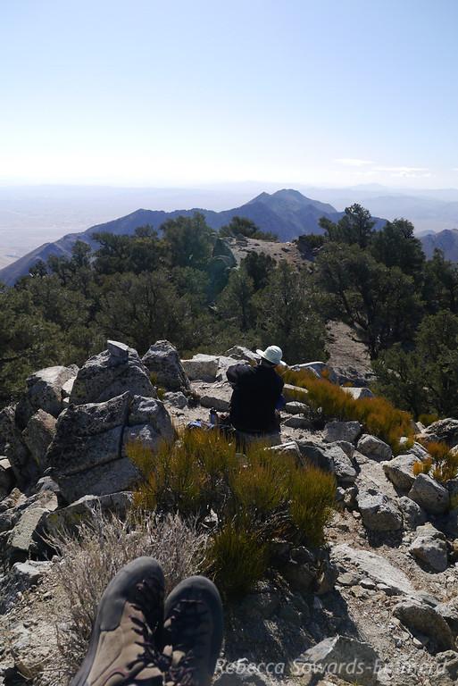On the summit of Morris