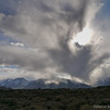 A storm dissipates as it works its way over Mt Tom.