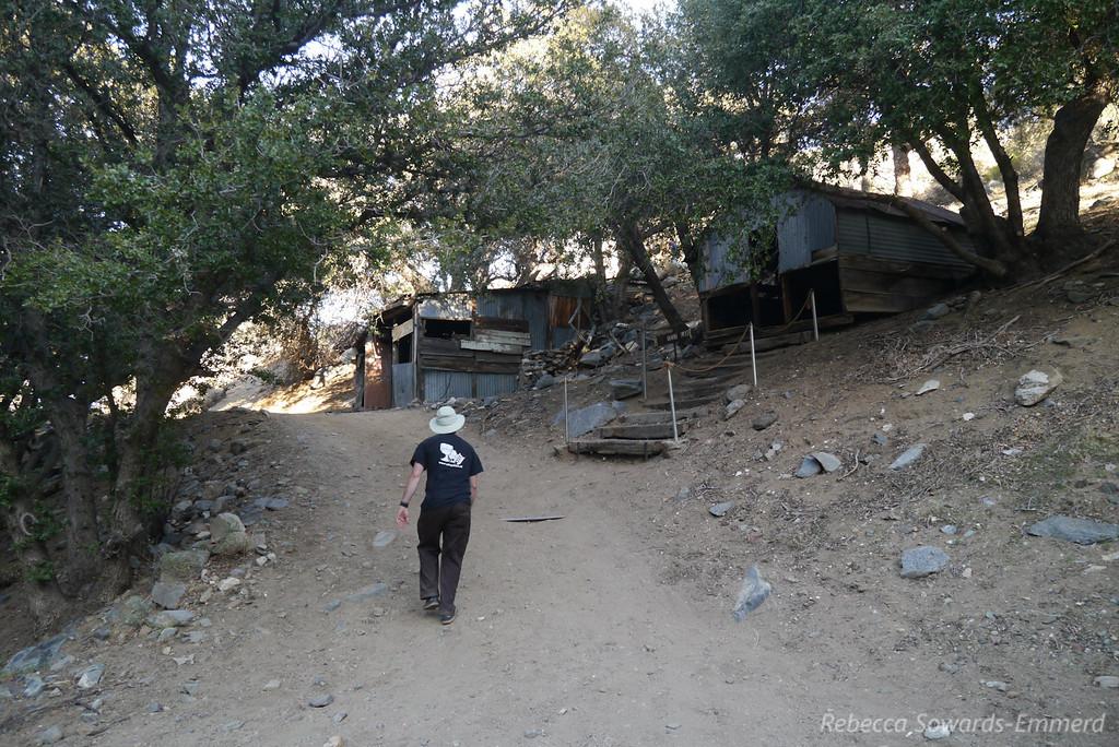 Heading back through the mining camp.