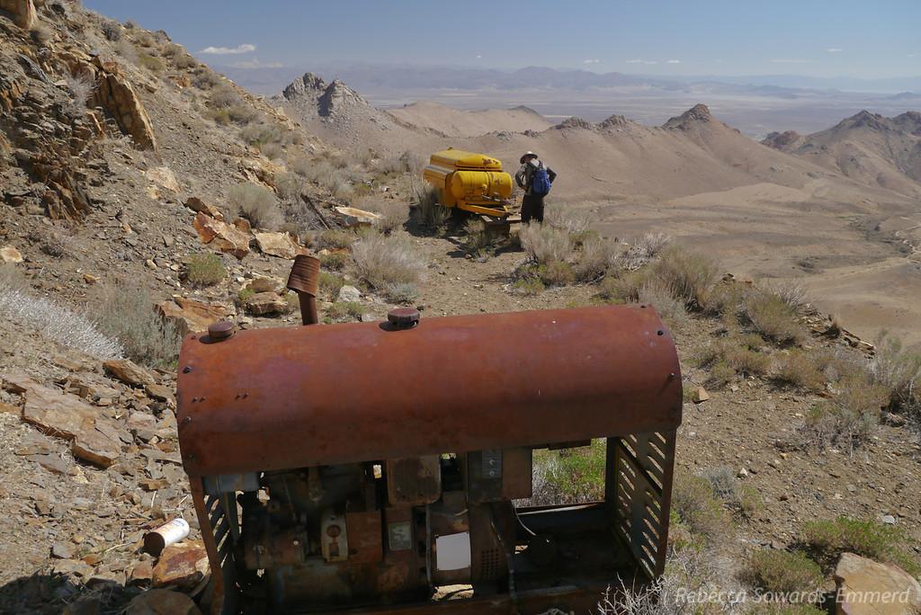 At an upper mining site.