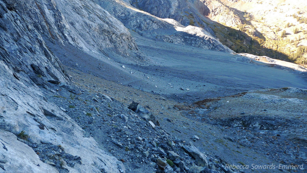 Still following the use trail, looking back on the moonscape.
