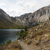 "Walking along Convict Lake. It looks like fall colors are just getting started here. <a href=""http://photos.calipidder.com/OutdoorAdventures/Laurel-Mountain-Gardisky-Lakes/18317754_ND3nNp"">Laurel Peak</a> on the right."