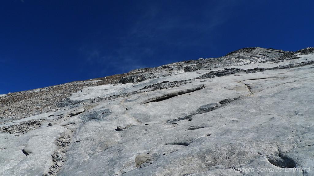 Mercifully solid rock. Yay!