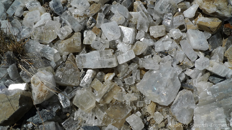 Close up on a pile of calcite