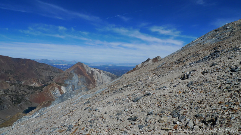 This shot shows the angle and terrain. Not the greatest but with Mt Tom fresh in my memory this isn't so bad.