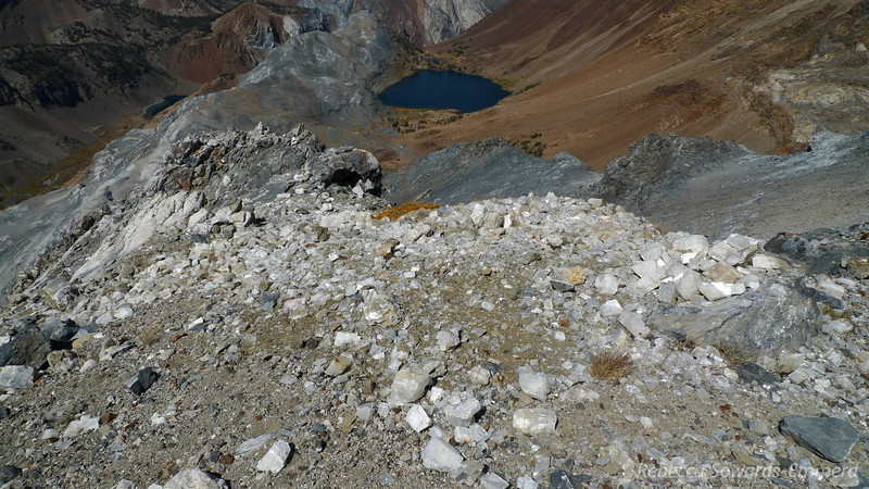 Calcite rubble with Bright Dot Lake