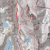 Map of our track to Mildred Lake and then up Baldwin.
