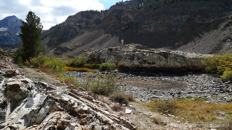 At the top of the Canyon. Mildred lake is on the other side of that rock outcropping.