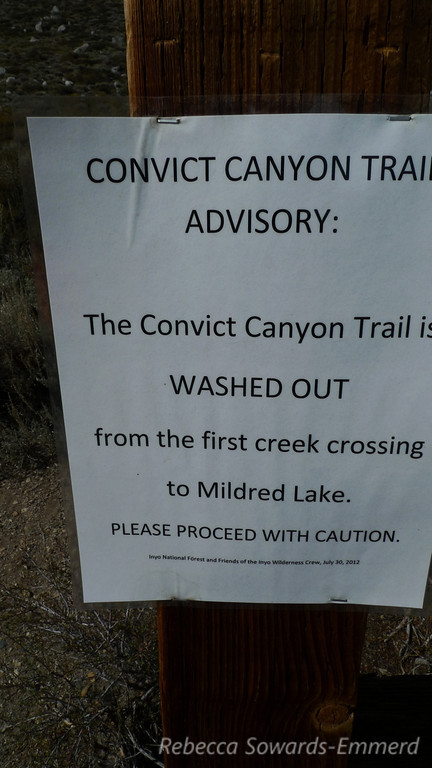 Trailhead warning. Sounds fun to me.