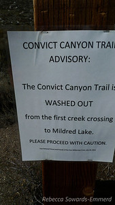 Trailhead warning. Sounds fun to me.