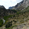 We'll hike up the creek to the top of the canyon at ~9800 ft.