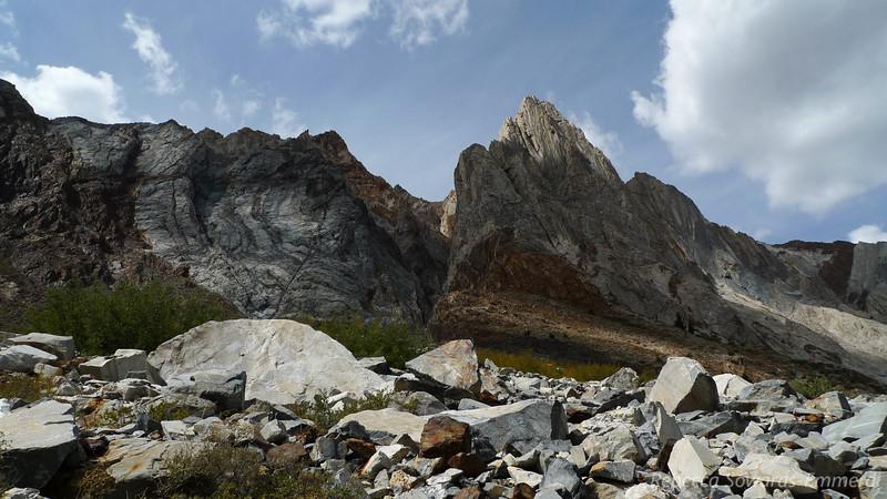 The north side of Laurel Peak