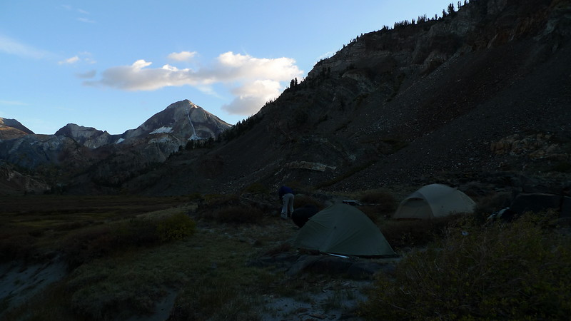 Camp at sunset. Brr. Definitely a fall chill in the air.