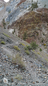 A decent stretch of trail on a switchback below Mildred Lake.