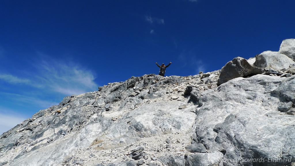 Sooz on the summit