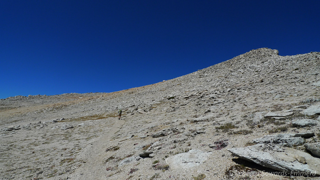 No summit yet. Very moonscapy up here.