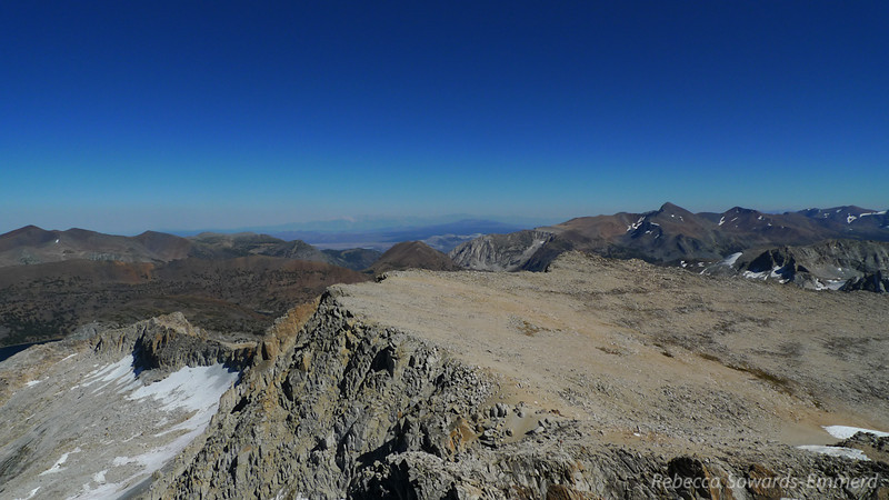 Conness Glacier on the left. Mono Lake is behind Tioga Peak in the center. Mt Dana on the right.