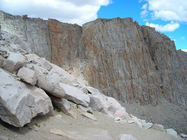 Rock walls above High and Long Lakes